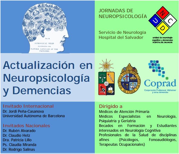 """Jornadas de neuropsicología: """"Actualización en Neuropsicología y Demencias"""""""