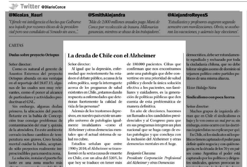 Carta al Director en Diario Concepción