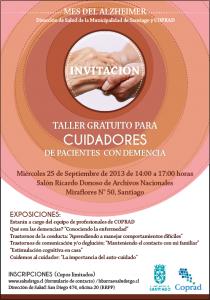 Charla para cuidadores de pacientes con demencia en Santiago Centro