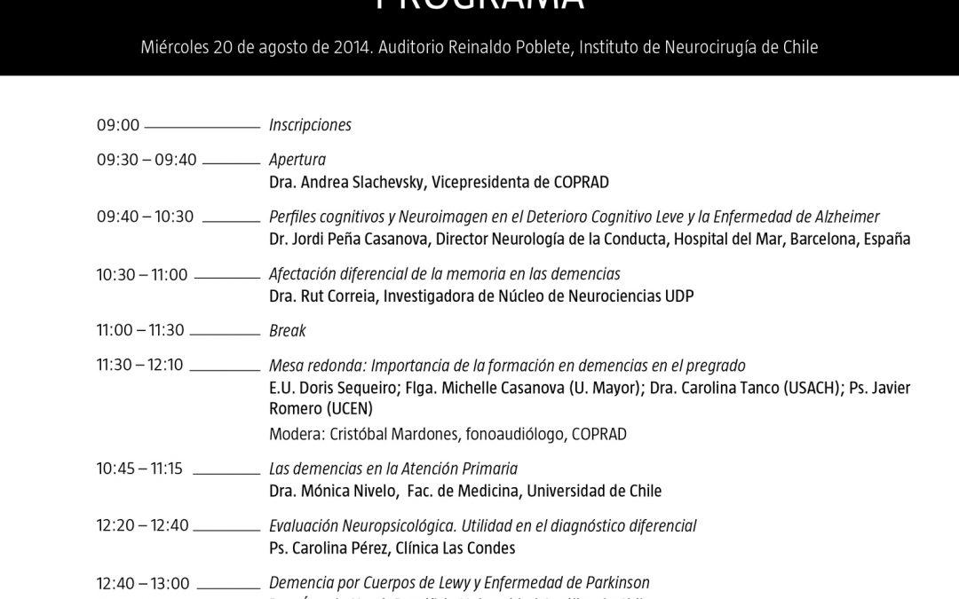 Jornadas de Actualización en Neuropsicología: Diagnóstico Diferencial en Demencias.