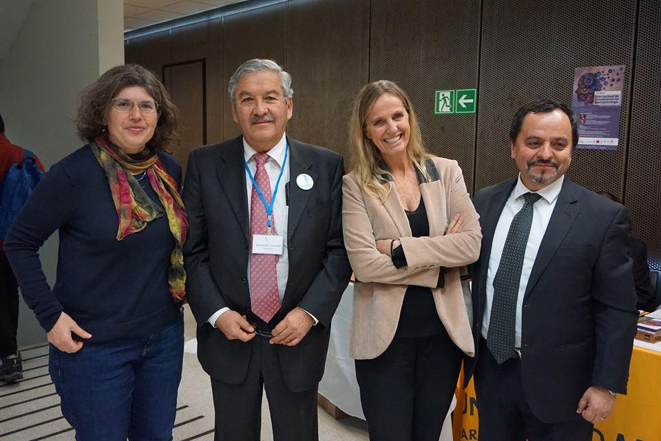Andrea Slachevsky, Benjamin Chacana, Teresa Torralva en Universidad Mayor