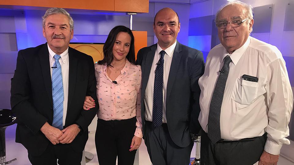 Entrevista por Krishna De Caso, el abogado Ricardo Ibañez, Roberto Fabtuzzi y Sonia Jungjohann en el mes del Alzheimer.