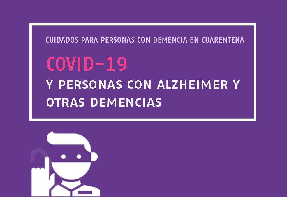 CUIDADOS PARA PERSONAS CON DEMENCIA EN CUARENTENA DEL COVID-19