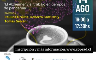 """NUEVA VERSIÓN DEL CAFÉ ALZHEIMER: UN CAFÉ VIRTUAL """"El Alzheimer y el trabajo en tiempos de pandemia"""""""